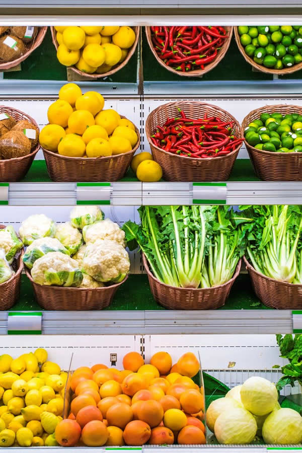 Refrigerated fruit and veg